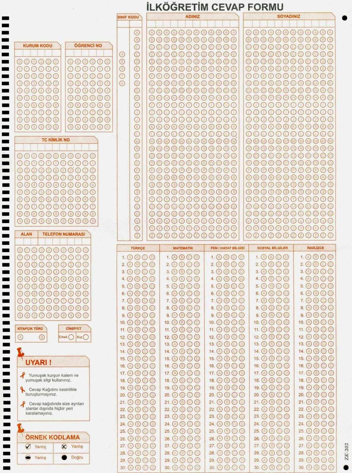 100 soruluk boş sınav şablonu 4 şıklı - ryuklemobi