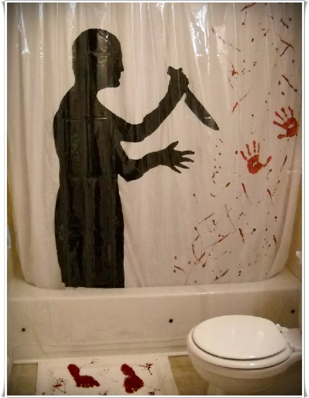 bıçaklı katil gölgeli duş perdesi