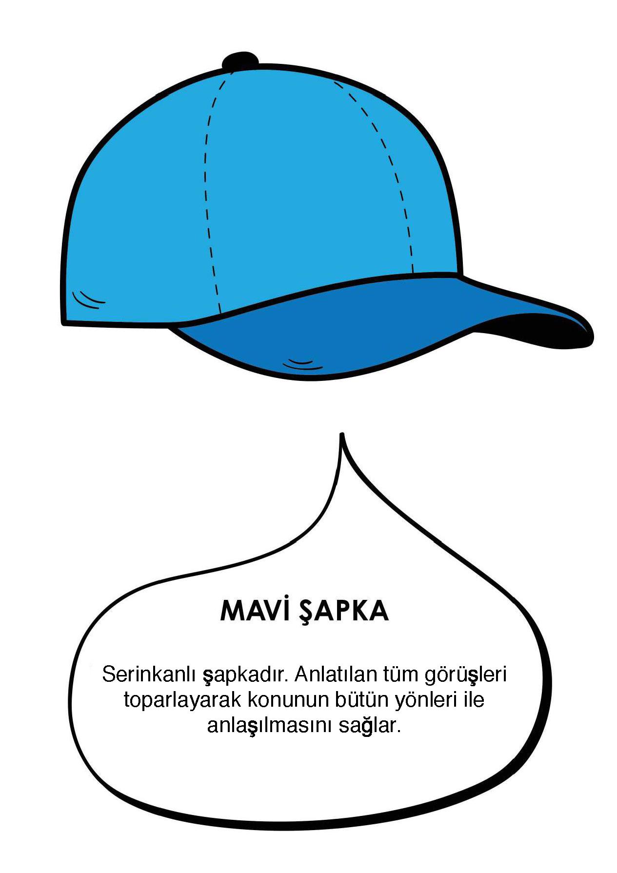 6)Mavi Şapka : SERİNKANLILIK