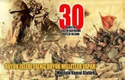 30 ağustos kutlama