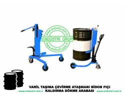 varil taşıma arabası varil devirme kaldırma boşaltma elleçleme paletleme yerleştirme dökme ataşmanı fiyatı (29)